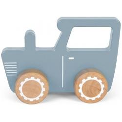 NIEBIESKI TRAKTOR drewniany pojazd
