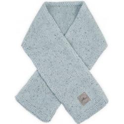 BAWEŁNIANY SZALICZEK Confetti knit stone green