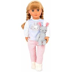 JOVIE duża lalka blondynka w piżamce 46 cm