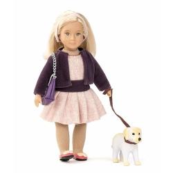 HAZEL I HAPPY lalka z pieskiem blondynka 15 cm