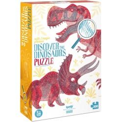 ODKRYJ ŚWIAT DINOZAURÓW puzzle tekturowe 200 el.