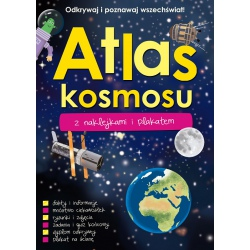 ATLAS KOSMOSU książeczka z naklejkami i plakatem