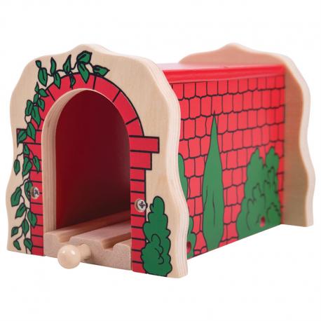Drewniany ceglany tunel