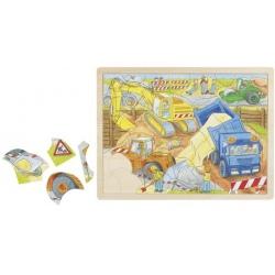 PLAC BUDOWY drewniane puzzle 56 el.