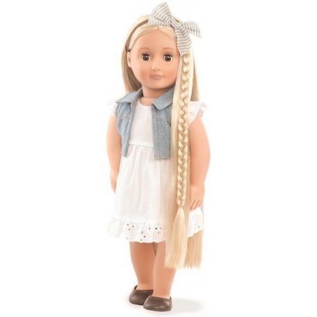 PHOEBE duża lalka blondynka 46 cm z regulowanymi włosami do stylizacji