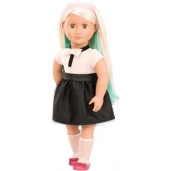 AMYA duża lalka blondynka 46 cm z kredą do kolorowania włosów