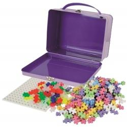 KLOCKI KONSTRUKCYJNE mini mix 600 szt. pastel neon w metalowej walizce