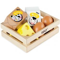 NABIAŁ drewniane produkty spożywcze w skrzyneczce