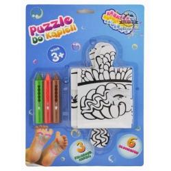 DELFIN puzzle + kredki do kolorowania w kąpieli