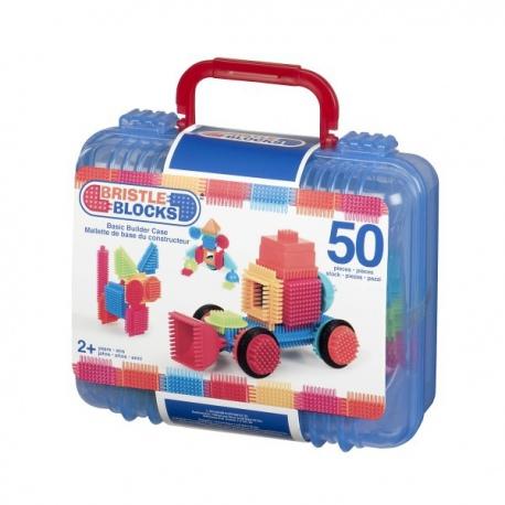 ELASTYCZNE KLOCKI 50 el. jeżyki w walizce