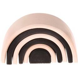 DREWNIANY TUNEL czarno-biały naturalny klocki 6 szt.