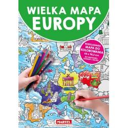 WIELKA MAPA EUROPY do kolorowania Simon Abbott