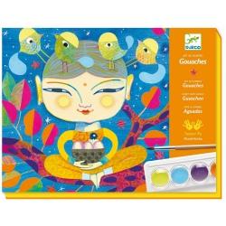INDIA zestaw artystyczny z farbkami
