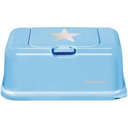 BŁĘKITNY POJEMNIK na chusteczki Blue Silver Star