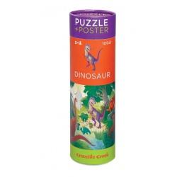 DINOZAURY puzzle w tubie 100 el.
