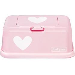 RÓŻOWY POJEMNIK na chusteczki Pink White Heart