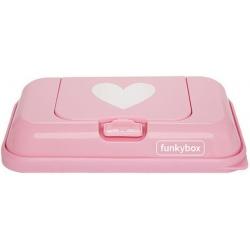 RÓŻOWY POJEMNIK na chusteczki To Go Pink White Heart