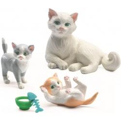 KOTKI zestaw 3 szt. figurki do domku dla lalek