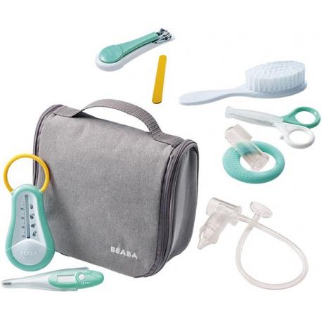 GREY kosmetyczka z 9 akcesoriami do pielęgnacji niemowląt