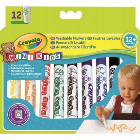 Pierwsze flamastry minikids 12szt. zmywalne Crayola