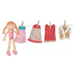 CZERWONY KAPTUREK lalka szmacianka z akcesoriami