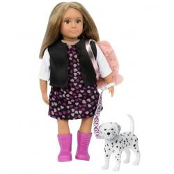GIA I GUNNER lalka z pieskiem blondynka 15 cm