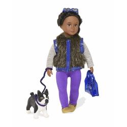 ILYSSA I INDYANA lalka z pieskiem brunetka 15 cm