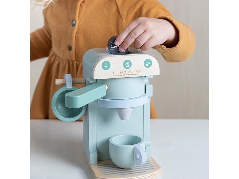 Drewniany Ekspres Do Kawy Z Akcesoriami Zabawa W Dom 10 El