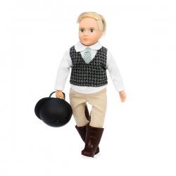 lalka dżokejka blondynka 15 cm