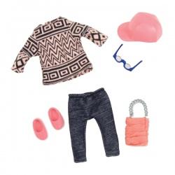 ZESTAW UBRANEK dla lalki 15 cm stylizacja z koszulą jeans Glam Gal