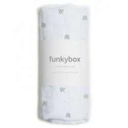 PIELUSZKA BAWEŁNIANA 70x70 cm Pink Swan Baby Cloth
