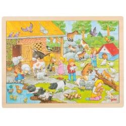 MINI ZOO drewniane puzzle 48 el.