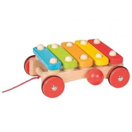 KSYLOFON kolorowe drewniane cymbałki do ciągnięcia