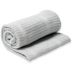 SZARY KOCYK bawełniany tkany 100x80 cm