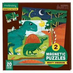 ZWIERZĘTA LĄDOWE I WODNE puzzle magnetyczne 2x20 el.