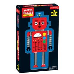 ROBOT tekturowe puzzle w kształcie postaci 50el.