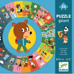 DZIEŃ tekturowe puzzle podłogowe 24 el.