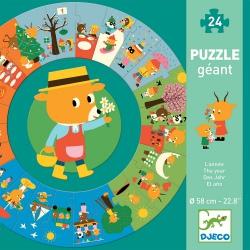 ROK tekturowe puzzle podłogowe 24 el.