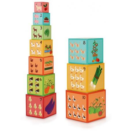 FARMA II tekturowa piramida z pudełek 10 el.