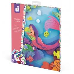 TROPIKALNA DŻUNGLA aksamitne karty zestaw artystyczny Art&Craft