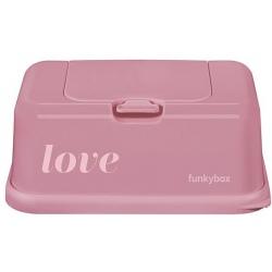 RÓŻOWY POJEMNIK na chusteczki Vintage Pink Love