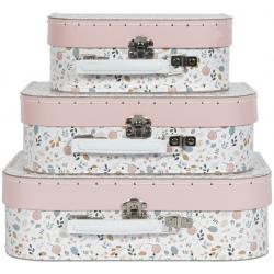 KWIATKI walizki na zabawki zestaw 3 szt. Spring Flowers