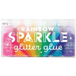 KLEJ BROKATOWY zestaw 6 szt. 20 ml Rainbow Sparkle