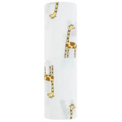 OTULACZ MUŚLINOWY jungle jam giraffe 120x120 cm