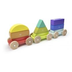 RAINBOW drewniany pociąg magnetyczny 9 el.