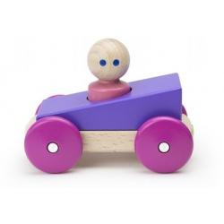 PURPLE drewniana magnetyczna wyścigówka