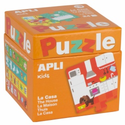W DOMU puzzle tekturowe 24 el.