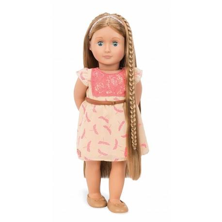 duża lalka blondynka 46 cm z regulowanymi włosami do stylizacji