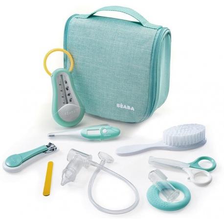 MINT kosmetyczka z 9 akcesoriami do pielęgnacji niemowląt
