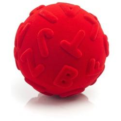 PIŁKA wielkie litery sensoryczna czerwona